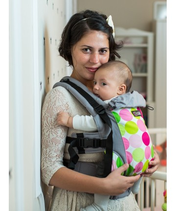 ISARA Disco Dots baby, ergonomic adjustable baby carrier organic cotton