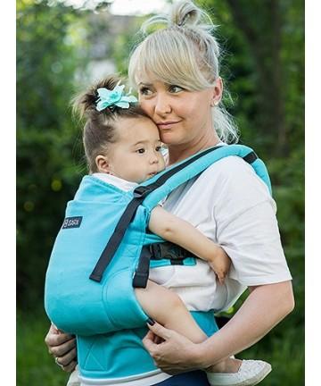 ISARA Full Wrap Conversion Turquoise baby, ergonomic adjustable organic cotton baby carrier