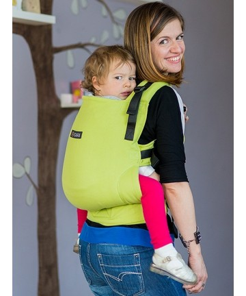 ISARA Full Wrap Conversion Lime Toddler ergonomic adjustable organic cotton baby carrier